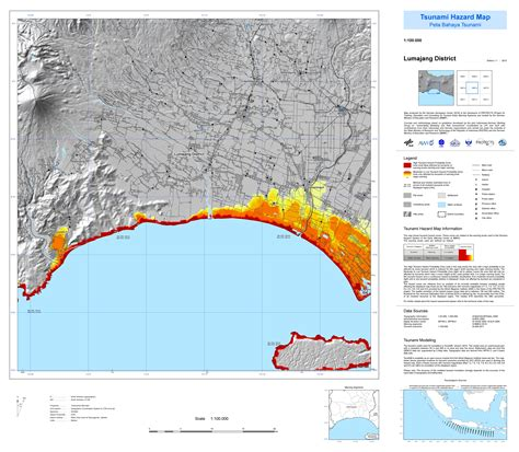 tsunami kit peta bahaya tsunami jawa timur