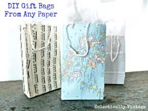 How To Make A Paper Gift Bag Templates by Make Paper Gift Bag Tutorial From Any Paper