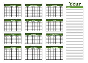 Blank Yearly Calendar Template by Yearly Blank Calendar With Holidays Free Printable Templates