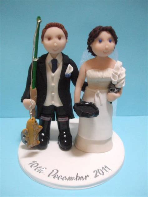 fly fishing wedding cake topper personalised wedding cake toppers