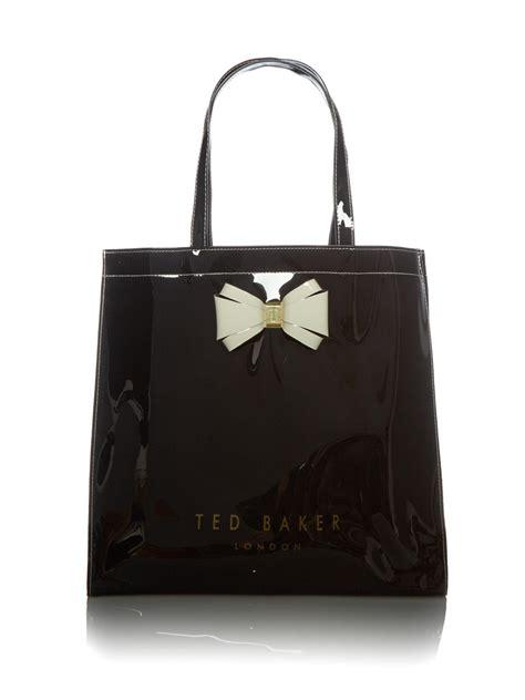 Ravee Bag From Ted Baker by Lyst Ted Baker Alacon Large Bow Tote Bag In Black