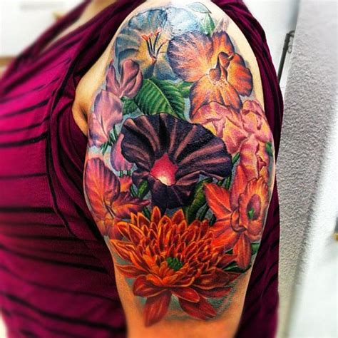 color flower tattoos color flower by isaacectattoo on deviantart
