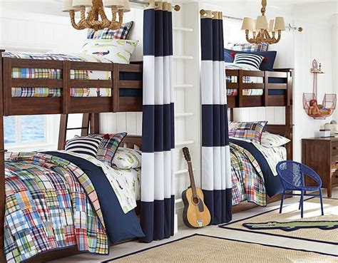 i the pottery barn madras alligator on potterybarnkids bunkroom