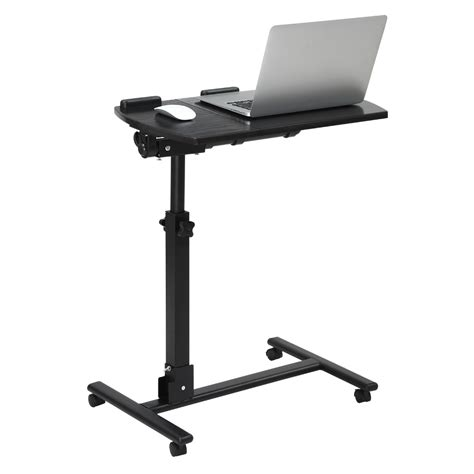 mobile laptop desk cart portable 360 degree swivel rolling laptop cart mobile desk