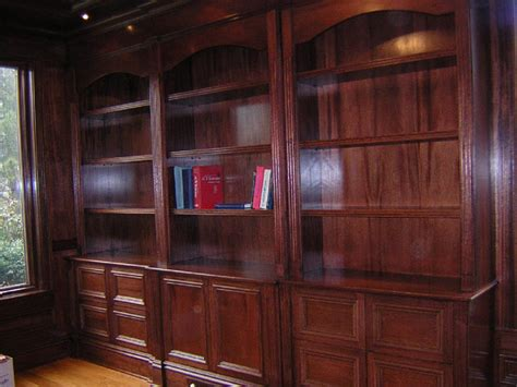 mahogany bookshelf and file cabinet unit for home library