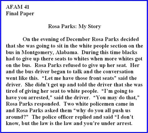 Rosa Parks Essay by College Essays College Application Essays Rosa Parks Essay Introduction