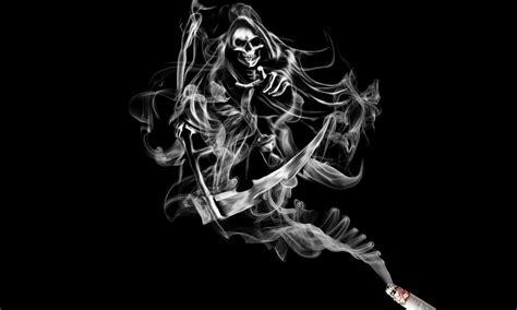 white facing weed smoke skeleton death fantasy reaper skull cigarette