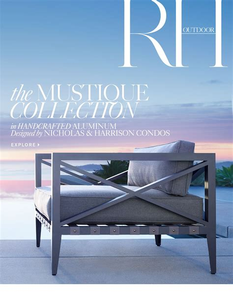 restoration hardware membership restoration hardware the mustique outdoor collection by