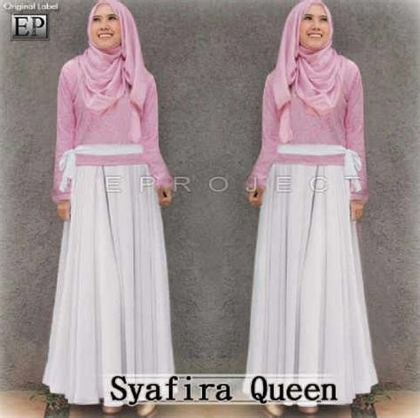 Dress Bilbao Atasan Wanita Dress Maxi Dress Putih Dress Belah 1 gamis pesta maxi syafira p 692