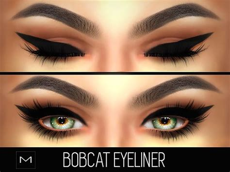 mod the sims acute eyeliner 10 styles makeup hair ideas mac cosimetics bobcat eyeliner hq