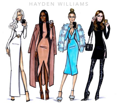 fashion illustration competition 2015 uk hayden williams fashion illustrations the selfie series