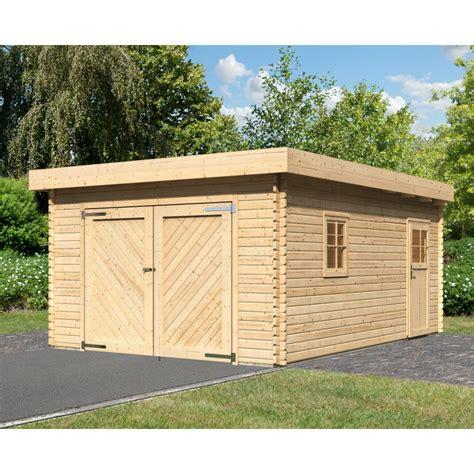 garage bois toit plat garage en bois massif 20 78m 178 toit plat madriers 40mm