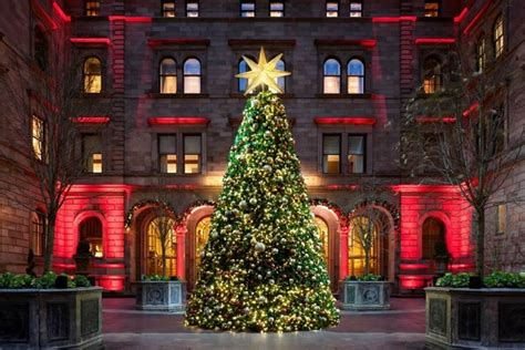the most beautiful christmas trees in hotels luxury