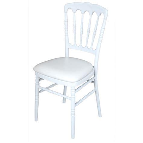 chaise napoleon polypropylene blanche sinotec