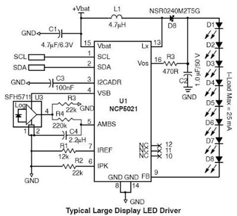 diagram ingram high voltage white led driver