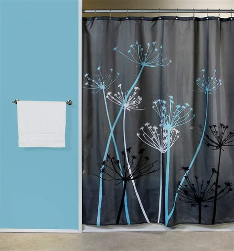 grommet shower curtains contemporary decoration bathroom with interdesign thistle