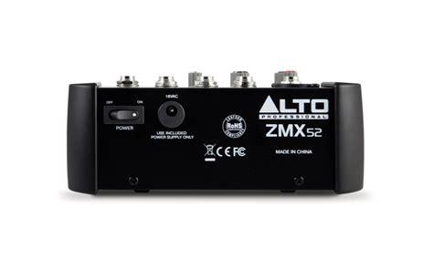 Mixer Alto Zmx alto zmx 52 5 channel compact mixer