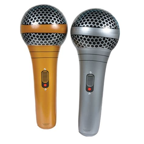 gold or silver inflatable microphone toys low cost party