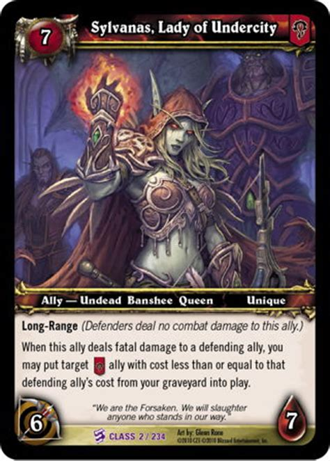sylvanas, lady of undercity wow tcg browser & deckbuilder