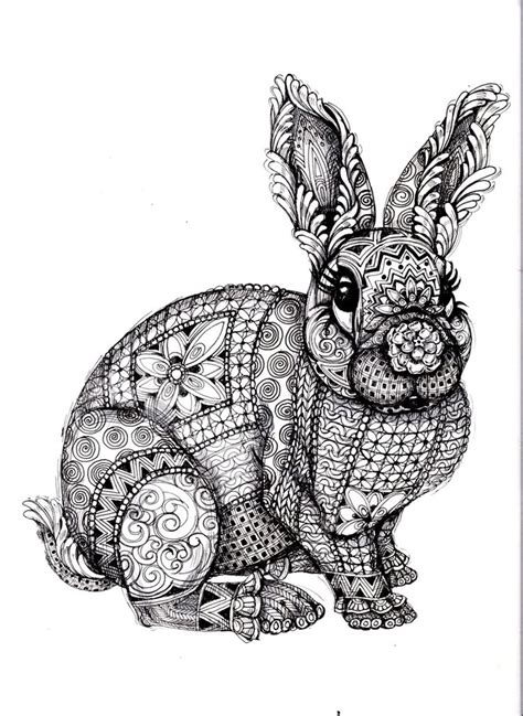 artistic animal coloring pages for adults printable