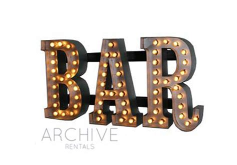 light up bar signs marquee bar sign single faced marquee letter sign a