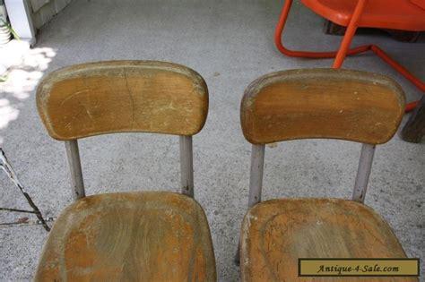 small school desk set of 2 vintage heywood wakefield small wood metal school