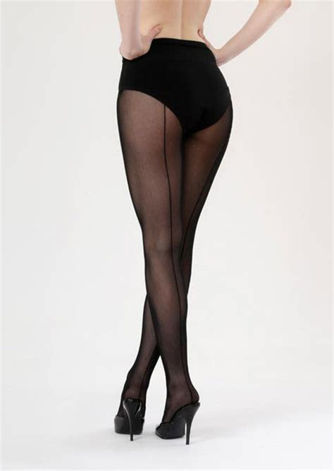 Retro Tights retro seamed tights black black
