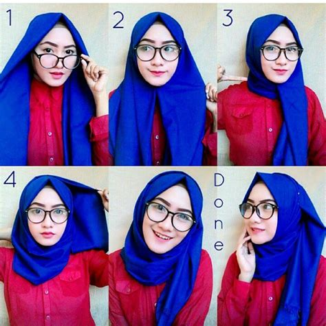 tutorial cara berhijab sehari hari cara memakai jilbab pashmina 2016