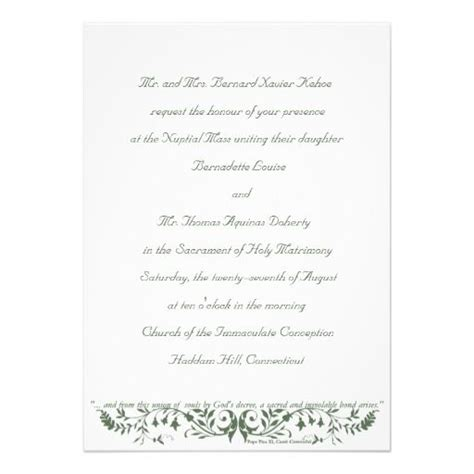 catholic wedding set invitation template cc christian