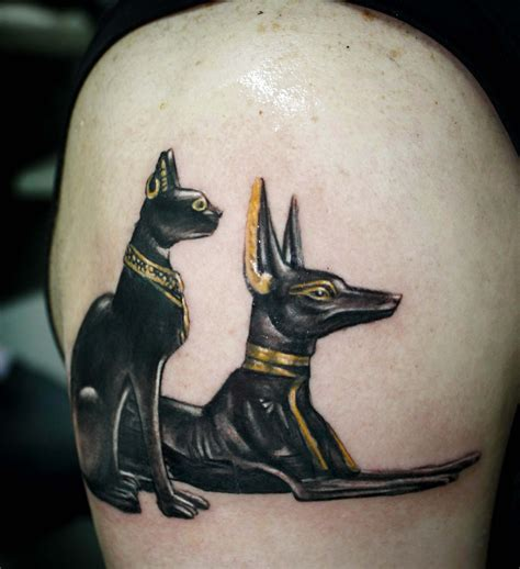 anubis bastet egyptian tattoo design bastet and anubis www pixshark images