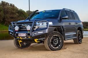 Black Flush Mount Light Tjm Outback Bull Bar Suit Toyota Landcruiser 200 Series