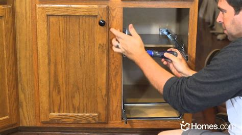 how to install kitchen cabinets buildipedia diy youtube homes com diy experts how to install roll out cabinet