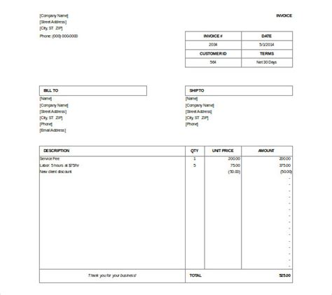 billing invoice templates microsoft invoice template 54 free word excel pdf