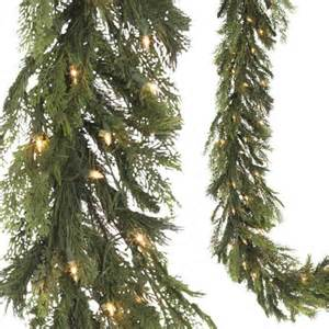 new 9 raz christmas lighted mixed pine and cedar thick