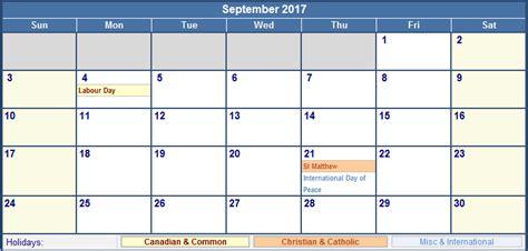 printable calendar september 2017 canada september 2017 calendar canada yearly calendar printable