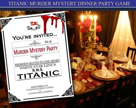 free murder mystery dinner to 1000 images about titanic murder mystery on