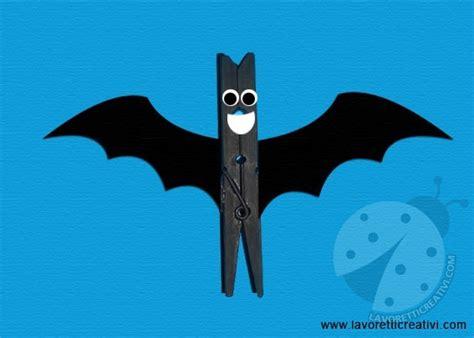 le pipistrelo lavoretti con le mollette di legno pipistrello