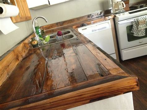 diy countertops wood rustic kitchen wood