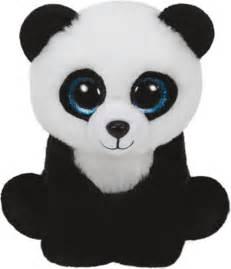 pics photos ty beanie boos plush panda keyring