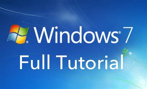 tutorial r youtube windows 7 full tutorial basics youtube