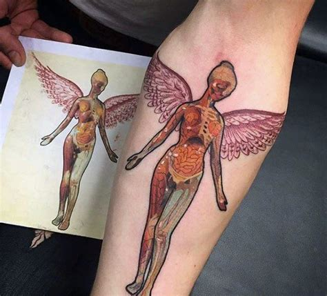 in utero tattoo 60 nirvana designs for rock band ink ideas