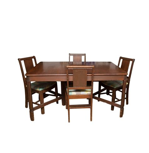 Bassett Furniture Dining Chairs Vintage Bassett Furniture Dining Table And Chair Set Ebth