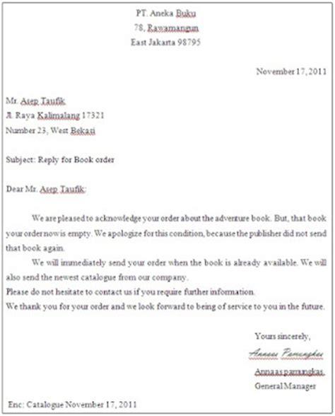 pengertian dan contoh order letter agustin