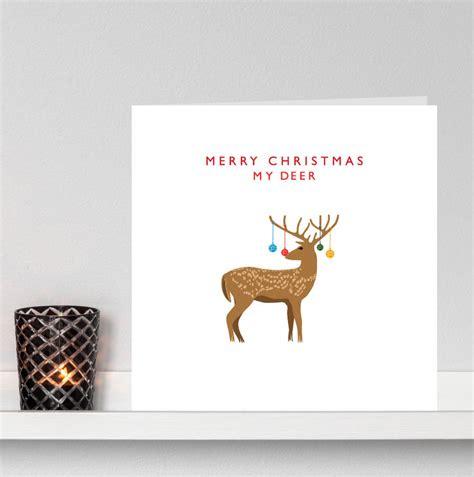 Merry My Deer merry my deer card by loveday