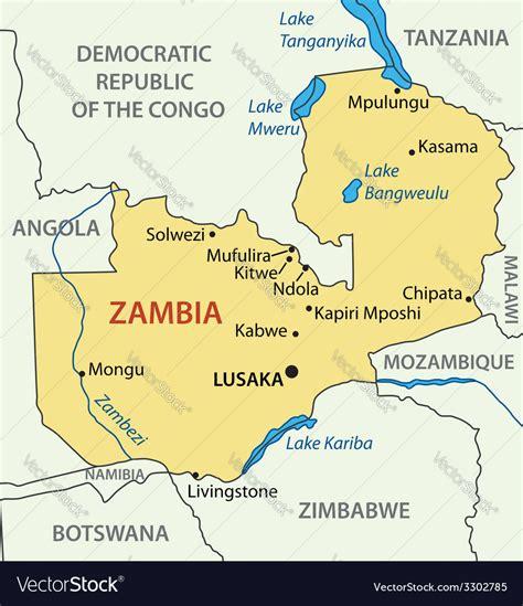 republic  zambia map royalty  vector image