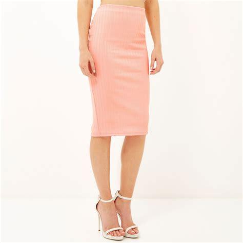 light pink pencil skirt redskirtz