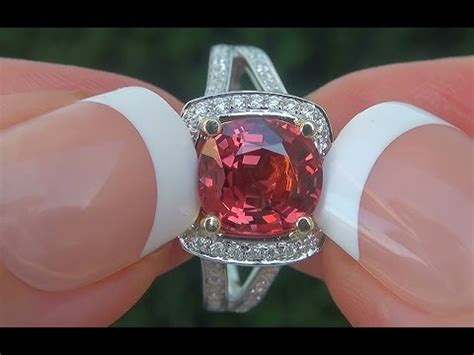 Hq Orange Garnet certified unheated vvs orange spinel and