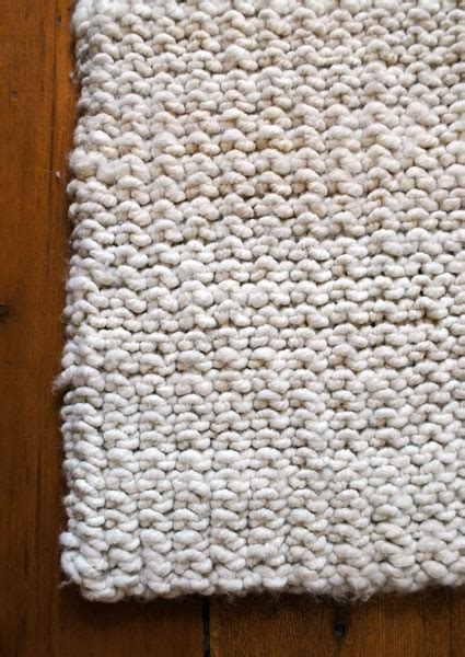 how to knit a rug knitted rug diy huset