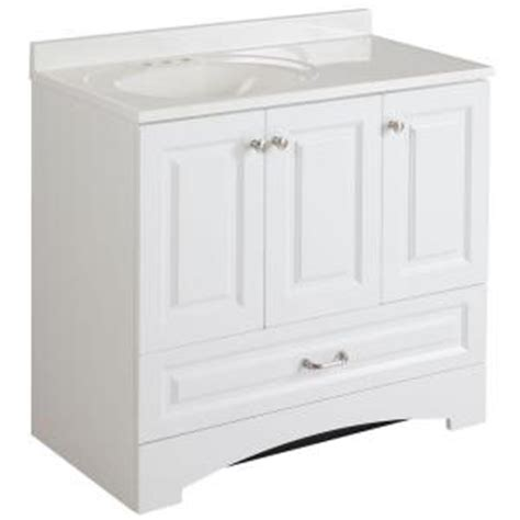 glacier bay bathroom vanities glacier bay lancaster 36 in vanity in white with alpine vanity top in white lc36p2com wh the
