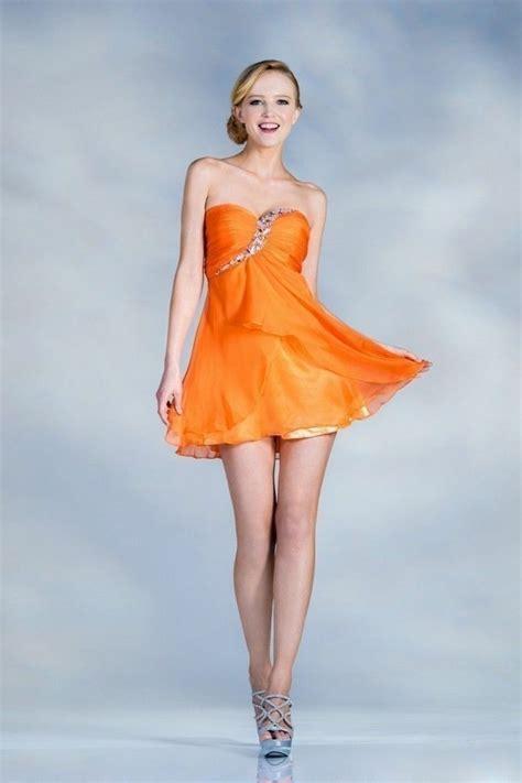 attraktive modelle von kleid  orange
